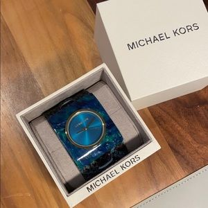 Michael Kors Willa Leather & Acetate Watch